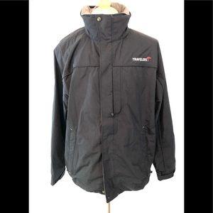 L.L. Bean Black Packable Nylon Rain Jacket